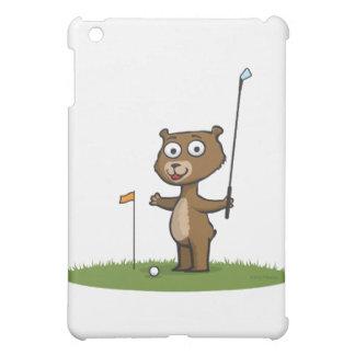 Teddy Bear Golf iPad Mini Cover