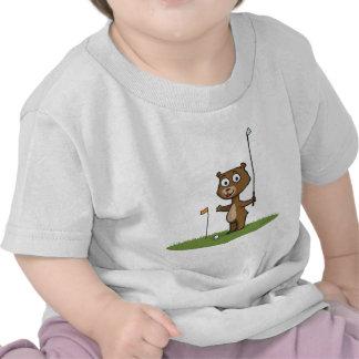 Teddy Bear Golf T Shirt