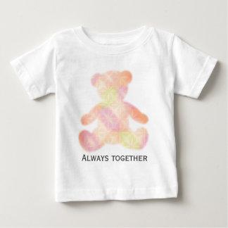 """Teddy bear gradation """"Always together """" Baby T-Shirt"""