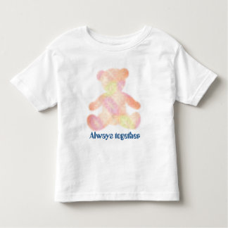 "Teddy bear gradation ""Always together "" Toddler T-shirt"