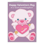 Teddy Bear Granddaughter Valentine Card