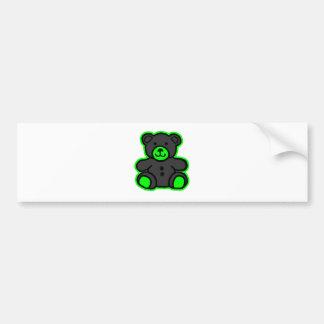 Teddy Bear Green Black The MUSEUM Zazzle Gifts Car Bumper Sticker