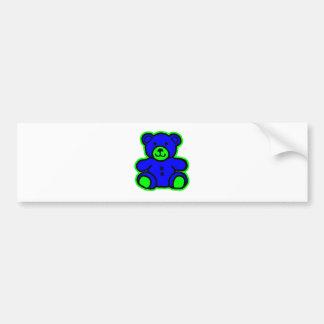 Teddy Bear Green Blue The MUSEUM Zazzle Gifts Car Bumper Sticker
