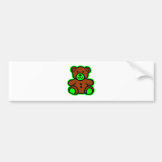 Teddy Bear Green Brown The MUSEUM Zazzle Gifts Car Bumper Sticker