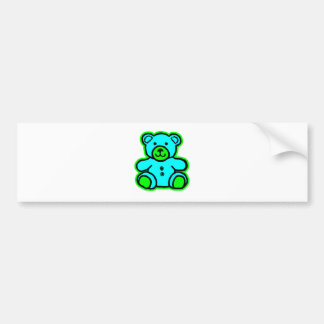 Teddy Bear Green Cyan The MUSEUM Zazzle Gifts Car Bumper Sticker