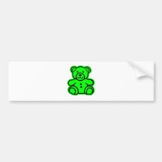 Teddy Bear Green Green The MUSEUM Zazzle Gifts Car Bumper Sticker