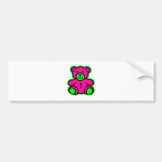 Teddy Bear Green Magenta The MUSEUM Zazzle Gifts Car Bumper Sticker