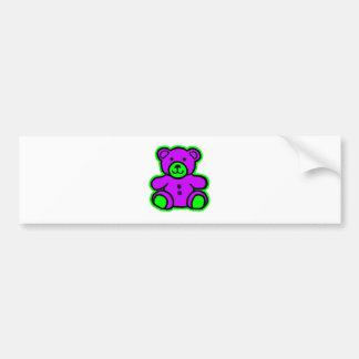 Teddy Bear Green Purple The MUSEUM Zazzle Gifts Car Bumper Sticker