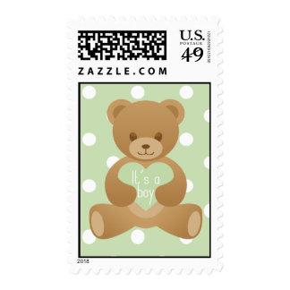 Teddy bear green Stamp