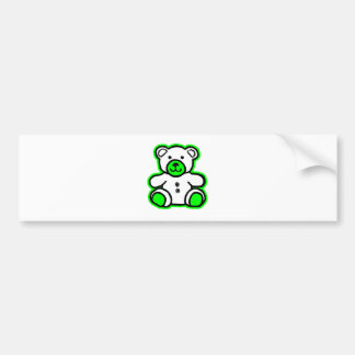 Teddy Bear Green White The MUSEUM Zazzle Gifts Car Bumper Sticker