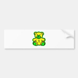 Teddy Bear Green Yellow The MUSEUM Zazzle Gifts Car Bumper Sticker