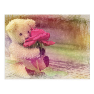 Teddy Bear Greetings Postcard