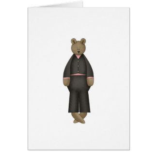 Teddy Bear Groom Card