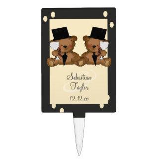 Teddy Bear Grooms Wedding Cake Topper