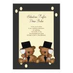 Teddy Bear Grooms Wedding 5x7 Paper Invitation Card