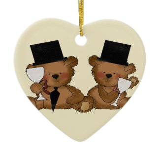 Teddy Bear Grooms Wedding ornament