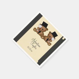 Teddy Bear Grooms Wedding Paper Napkin