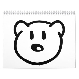 Teddy bear head calendar