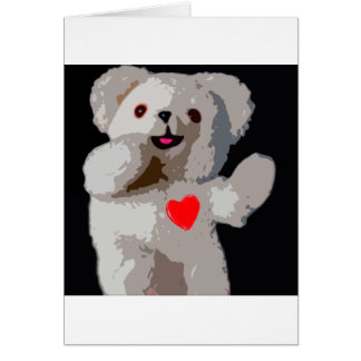 Teddy Bear Heart Card