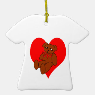 Teddy Bear Heart Designs Christmas Ornaments