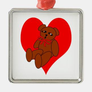 Teddy Bear Heart Designs Ornaments