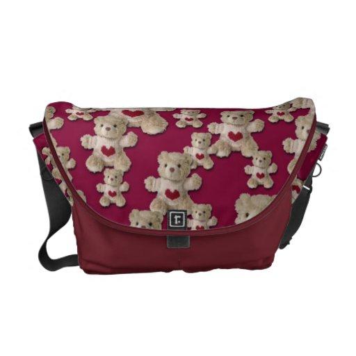 Teddy Bear Heart Messenger Bag