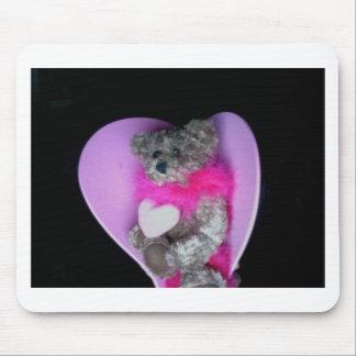 Teddy Bear Heart Photo 8214 Mouse Pads