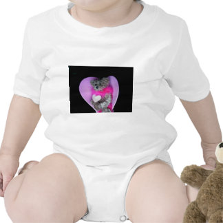 Teddy Bear Heart Photo 8214 Baby Bodysuits