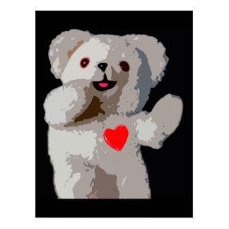 Teddy Bear Heart Postcard