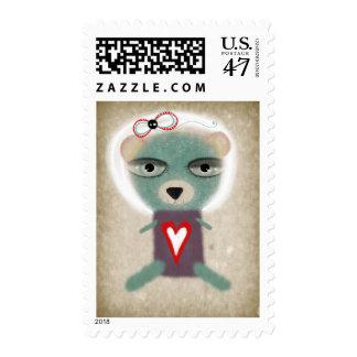 Teddy Bear heart Rupydetequila Postage 2011