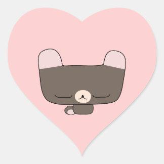 teddy bear heart stickers