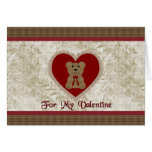 Teddy Bear Heart Valentine Card