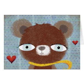 Teddy bear hearts Card