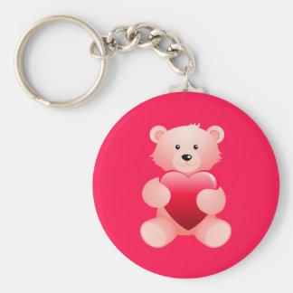 Teddy Bear Holding a Heart Keychain