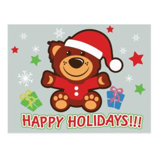 Teddy Bear Holiday Card