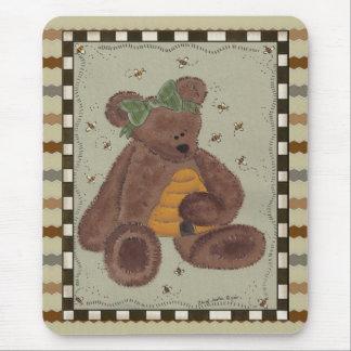 Teddy Bear Honey Mouse Pad