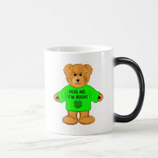 Teddy Bear: Hug Me. I'm Irish! Magic Mug