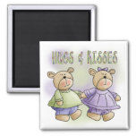 Teddy Bear Hugs and Kisses Tshirts and Gifts Magnets