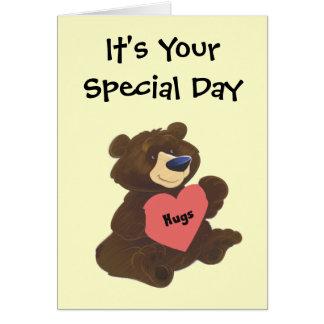Teddy Bear Hugs Mother's Day Card