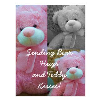 Teddy bear hugs Postcard