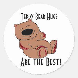 Teddy Bear Hugs Stickers
