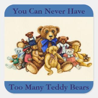 TEDDY BEAR HUGS STICKERS Square, Sheet