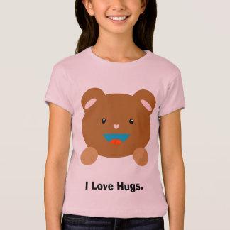 Teddy Bear.  I Love Hugs. T-Shirt