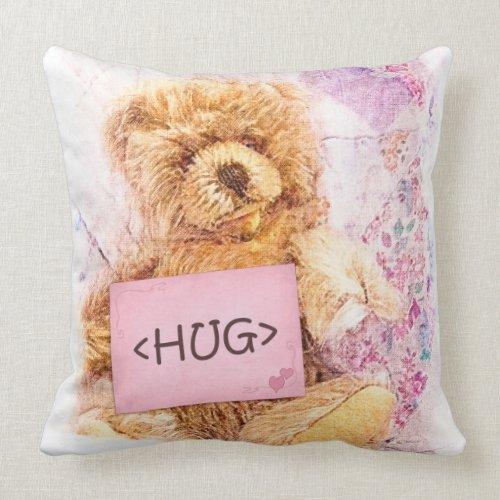 Teddy Bear I Love You and Bear Hug throwpillow