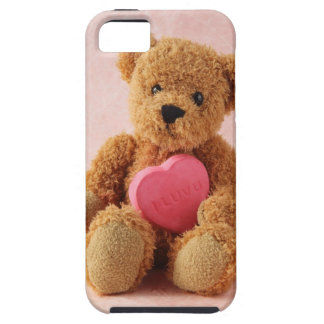 teddy bear I luv u iphone tough case
