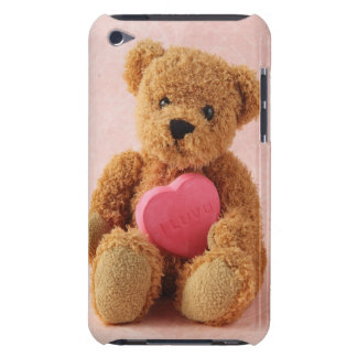 teddy bear I luv u ipod barely there case