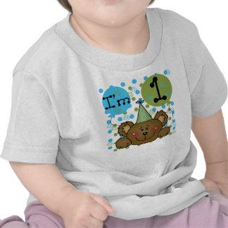 Teddy Bear I m One First Birthday Tee Shirts