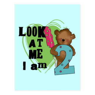 Teddy Bear I'm 2 Birthday T-shirts and Gifts Postcards
