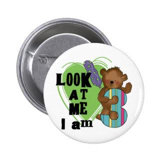 Teddy Bear I'm 3 Birthday Tshirts and Gifts Button