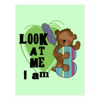 Teddy Bear I'm 3 Birthday Tshirts and Gifts Postcard